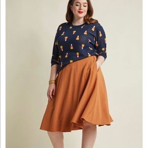 Modcloth Just This Sway A-Line Skirt in Turmeric
